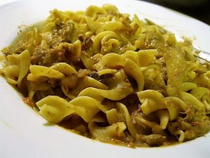 Meatball Stroganoff With Egg Noodles