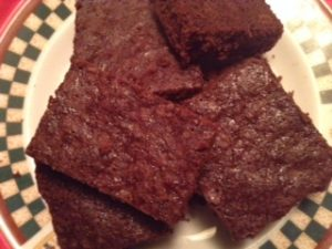 Chocolate Brownies Made with Stevia & Coconut Oil
