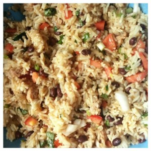 Veggie Rice Summer Salad with Black Beans