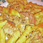 Chicken Penne Alfredo with Peppers