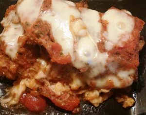 Italian Breaded Chicken Recipe with Ham, Tomato Sauce & Mozzarella Cheese