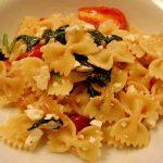 Quick Plum Tomato, Mozzarella & Farfalle Salad