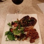 Spanish Style Steak with Rice and Beans