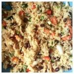 Veggie Rice Summer Salad with Black Beans
